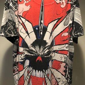 Ghost Rider/Blaze- Marvel all over Shirt L *Rare*